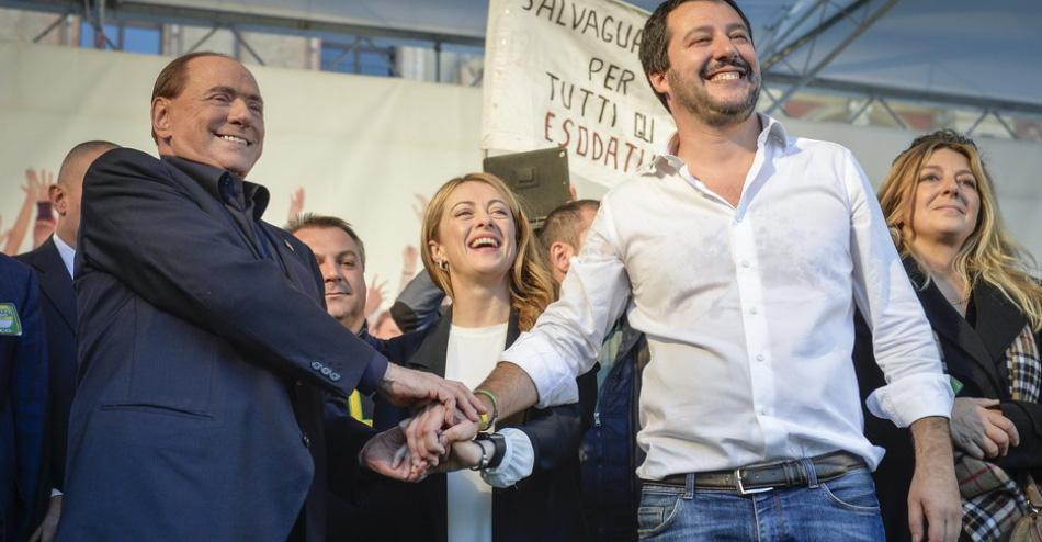 Berlusconi, Meloni e Salvini