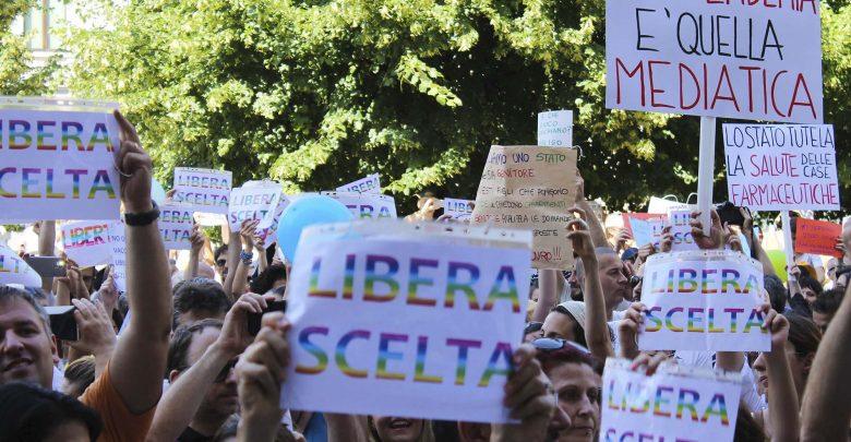 Manifestazione No-Vax