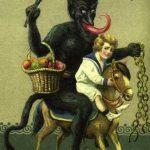 Antica cartolina raffigurante un Krampus