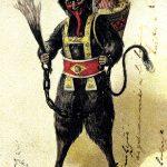 Antica cartolina raffigurante un Krampus 3