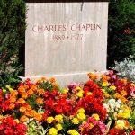 La lapide di Chaplin in Svizzera