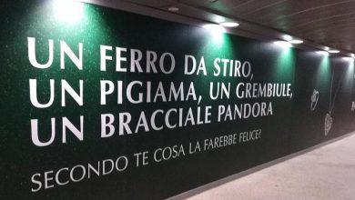 La pubblicità comparsa nella metropolitana di Milano