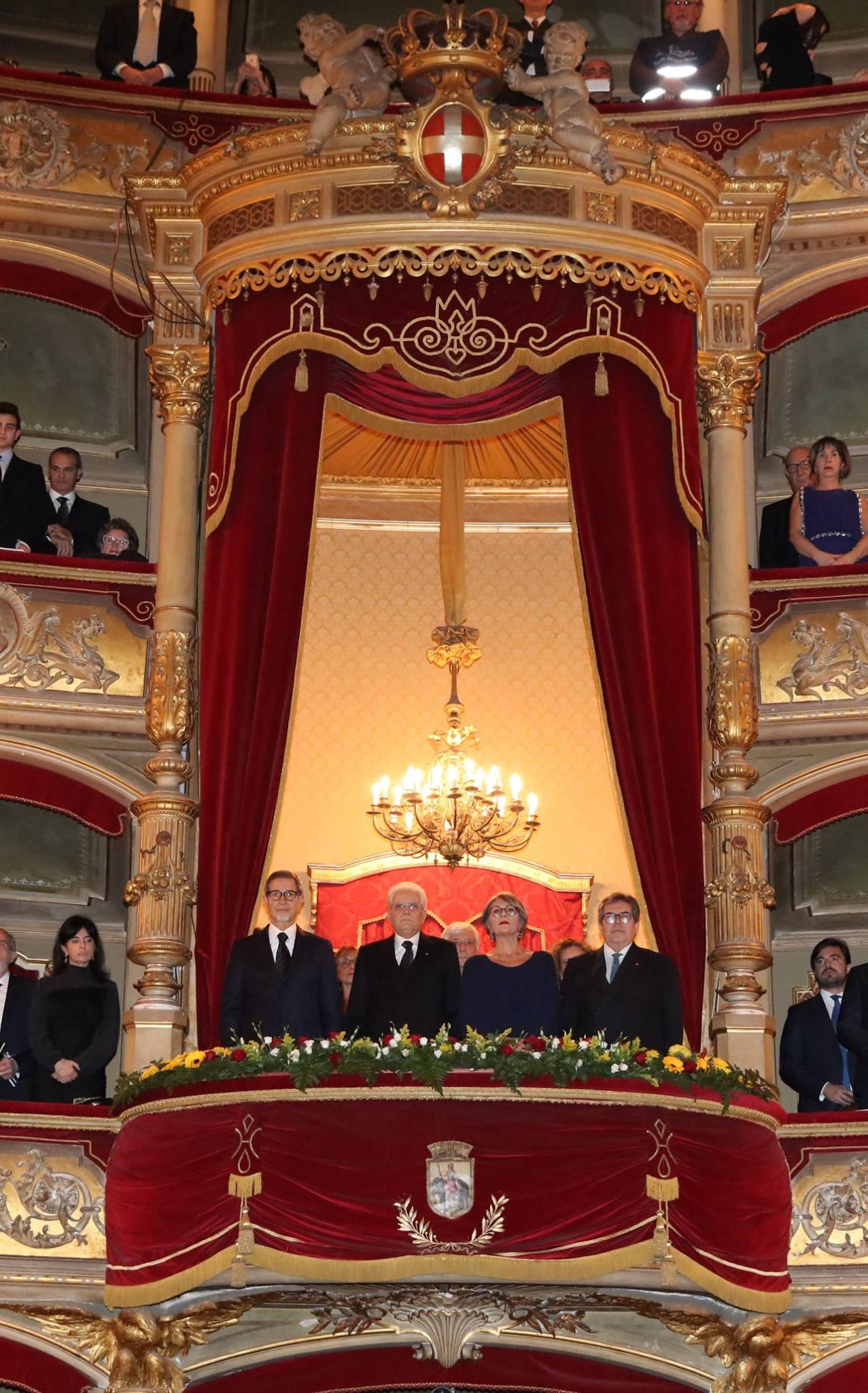 Da sinistra: Musumeci, Mattarella, Finocchiaro e Bianco (Foto di Giacomo Orlando)