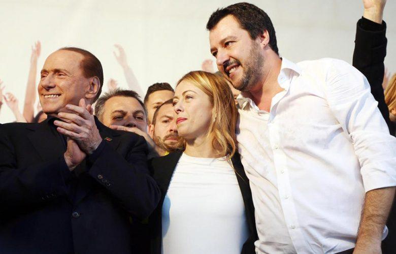 Berlusconi Meloni e Salvini