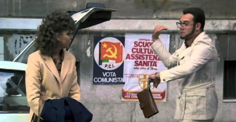 "Irina Sanpiter in ""Bianco, rosso e Verdone"""