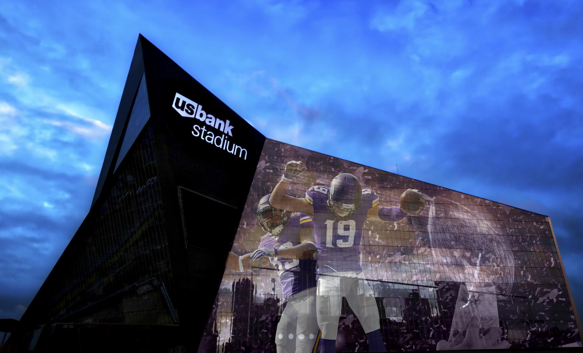 U.S. Bank Stadium di Minneapolis, Minnesota
