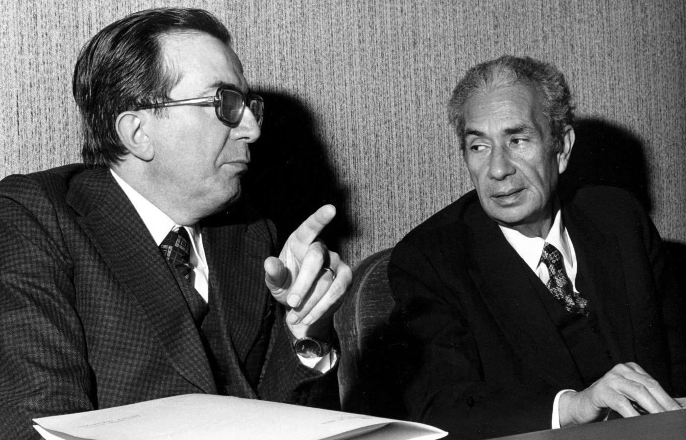 Giulio Andreaotti con Aldo Moro