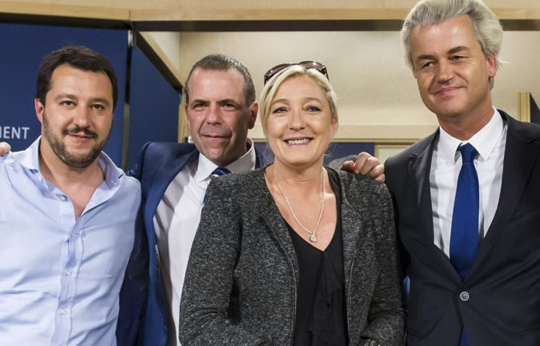 Marine Le Pen, Matteo Salvini, Geert Wilders, Harald Vilimsky