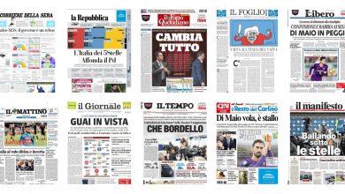 Photo of Dall'ingovernabilità al boom del M5S: le prime pagine dei giornali italiani