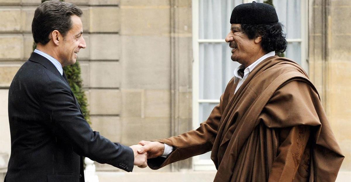 Sarkozy Gheddafi