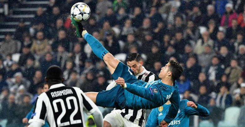 La rovesciata di Cristiano Ronaldo in Champions League nello scontro Juventus Real Madrid