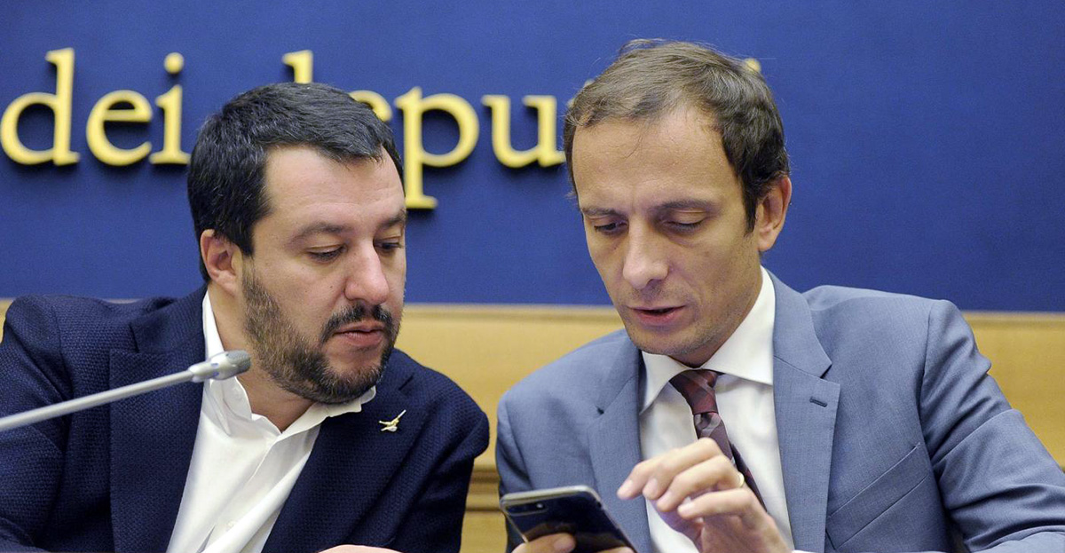 Matteo Salvini e Massimiliano Fedriga (Foto Fabio Cimaglia / LaPresse)