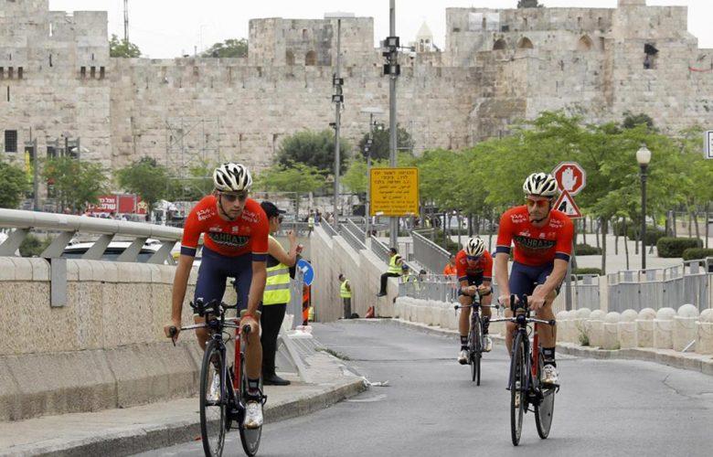 Il Giro d'Italia a Gerusalemme (Afp)