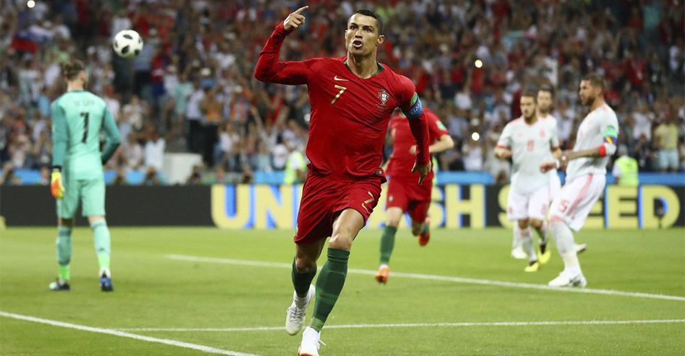 Cristiano Ronaldo in Portogallo Spagna Mondiali Russia 2018