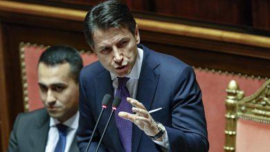 Il premier Giuseppe Conte al Senato