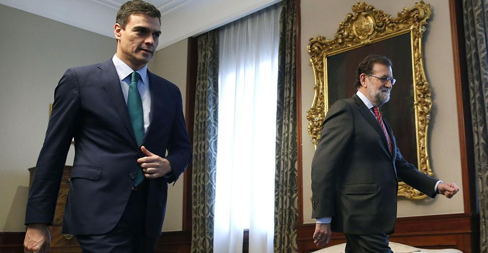 Pedro Sanchez e Mariano Rajoy