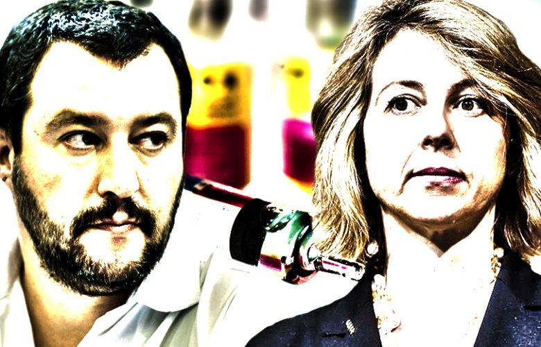 Salvini Grillo scontro sui vaccini