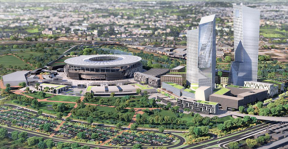 Il progetto del nuovo stadio della Roma
