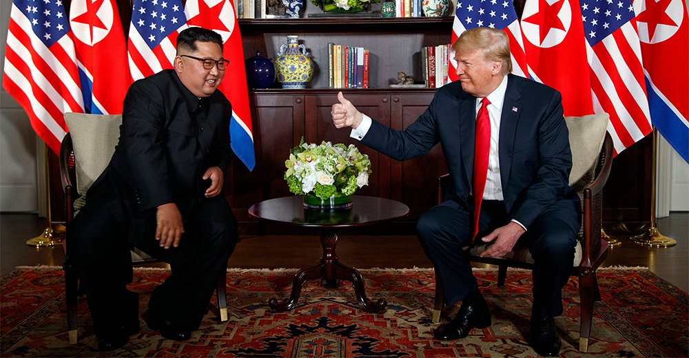 Trump e Kim a Singapore