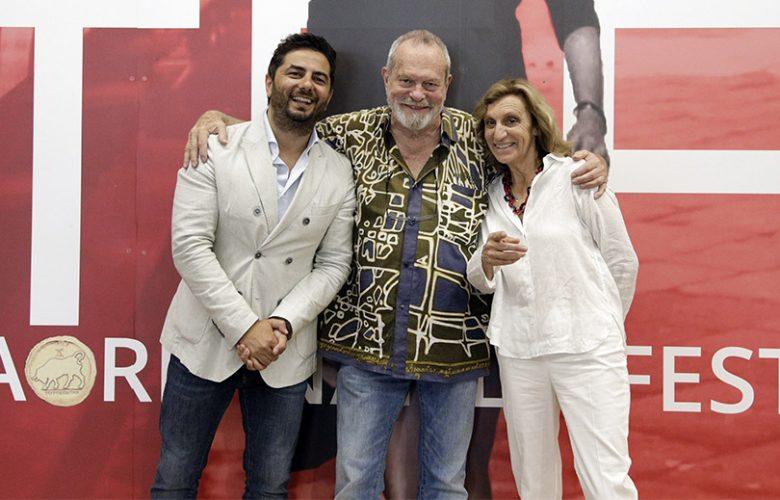 Taormina Film Fest 2018 16 Luglio 2018 Gianvito Casadonte Terry Gilliam e Silvia Bizio