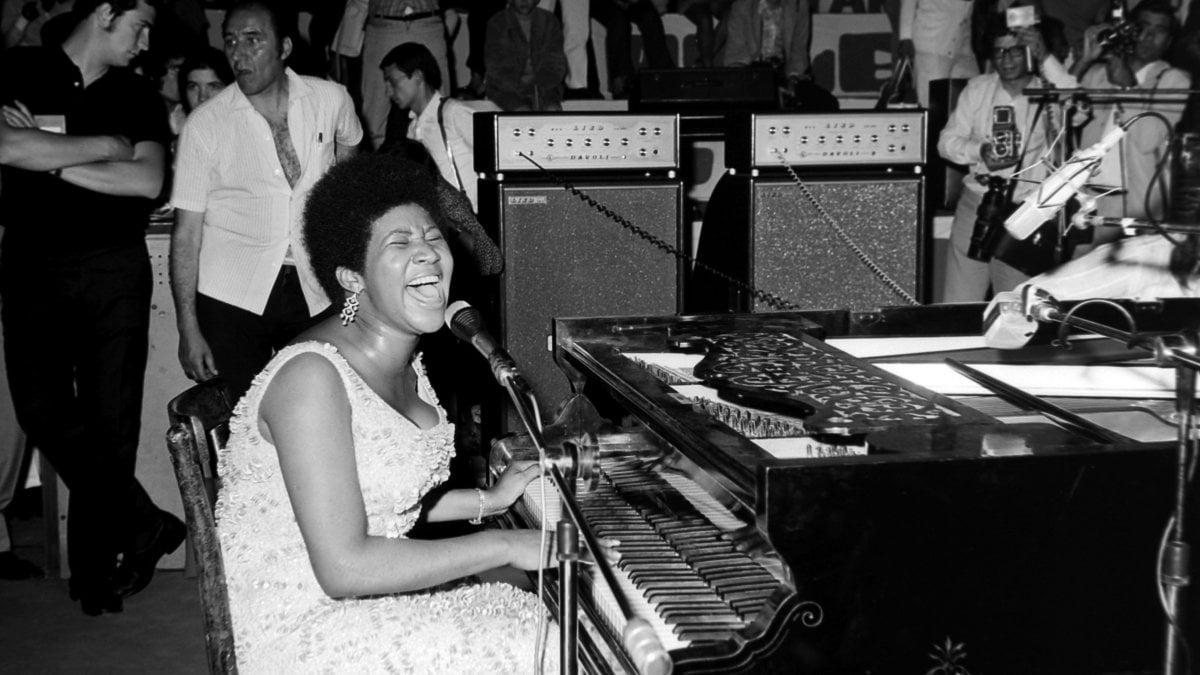 L'esibizione di Aretha Franklin a Palermo