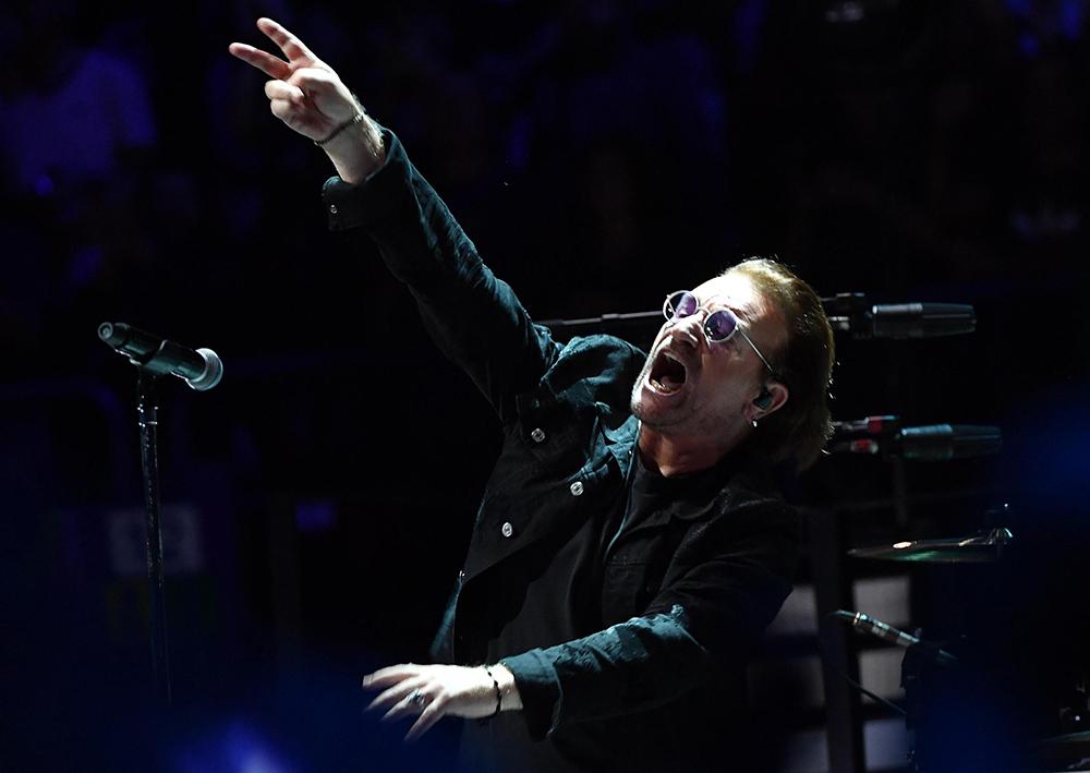 U2 in concert in Milan