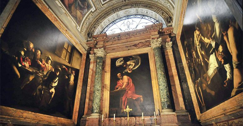 Caravaggio Cappella Cottarelli Chiesa di San Luigi dei Franceschi a Roma