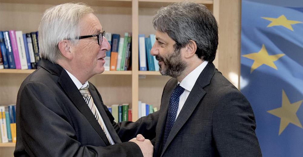 Jean Claude Juncker e Roberto Fico