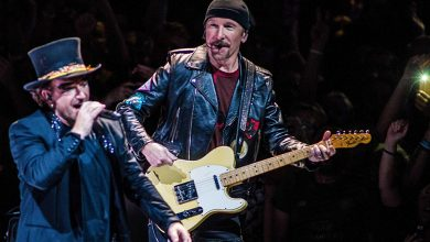 The Irish band U2 performs in Amsterdam
