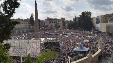 Manifestazione Pd a Roma