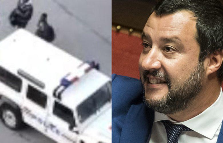 Matteo Salvini video migranti e polizia francese