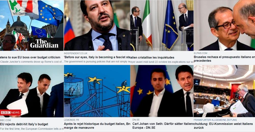 Scontro Italia-Ue manovra stampa estera