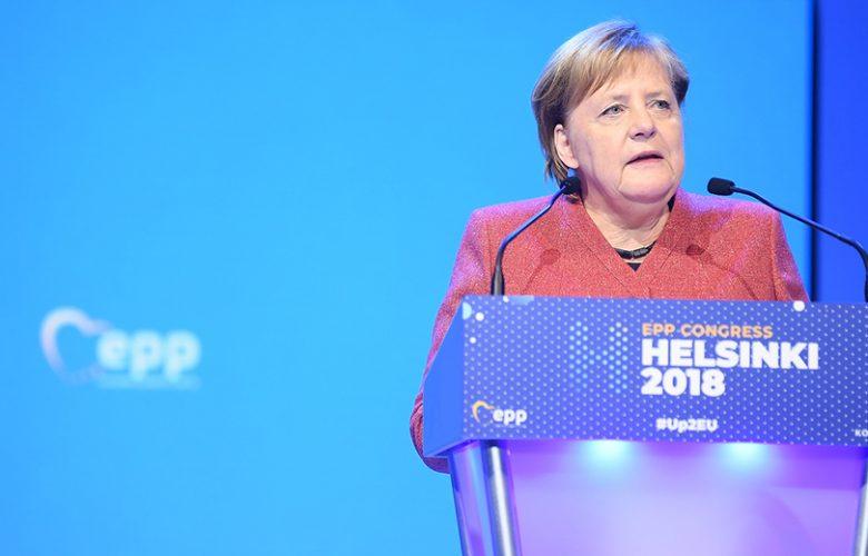 Angela Merkel a Helsinki congresso PPE