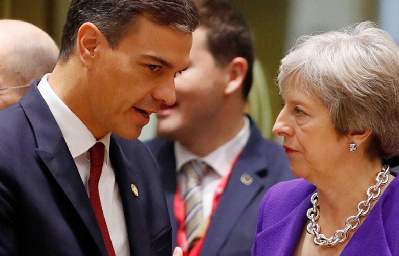 Brexit caso Gibilterra Pedro Sánchez e Theresa May