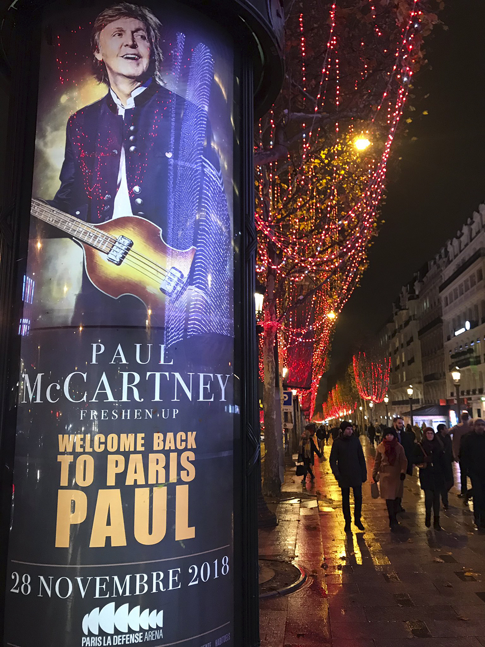 Concerto a Parigi di Paul McCartney