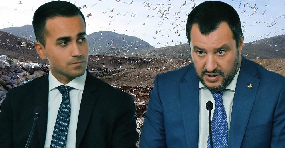 Emergenza rifiuti Di Maio e Salvini