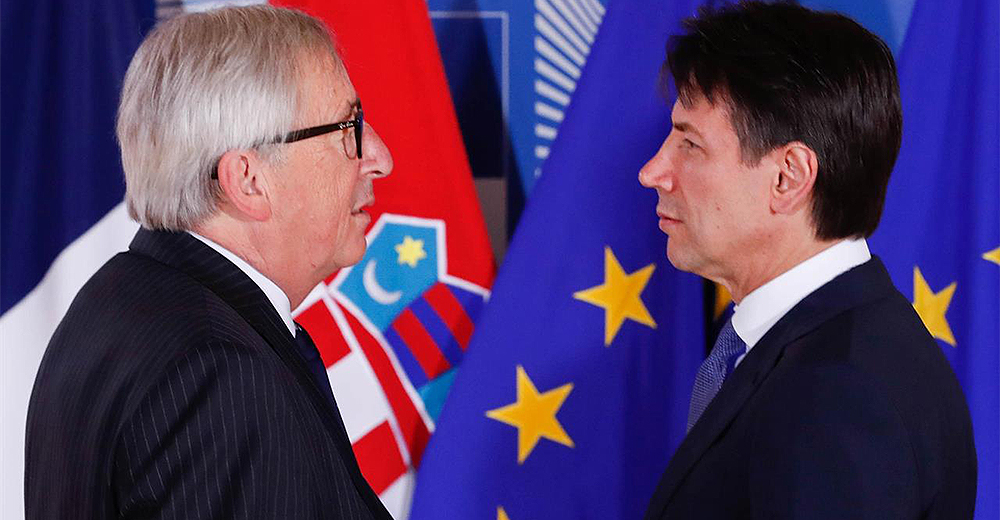 Manovra economica italiana incontro Juncker Conte