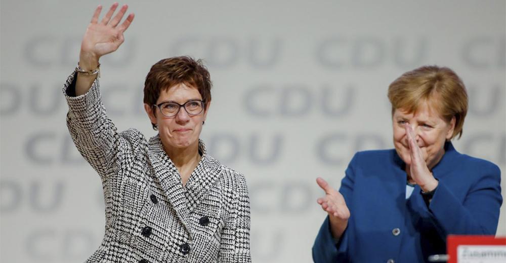 Annegret Kramp-Karrenbauer e Angela Merkel Cdu
