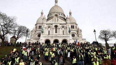 Gilet gialli a sopresa invadono Montmartre