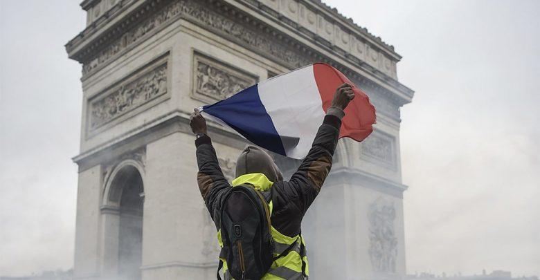 Francia Parigi, Protesta dei gilet Gialli sugli Champs-Elysees