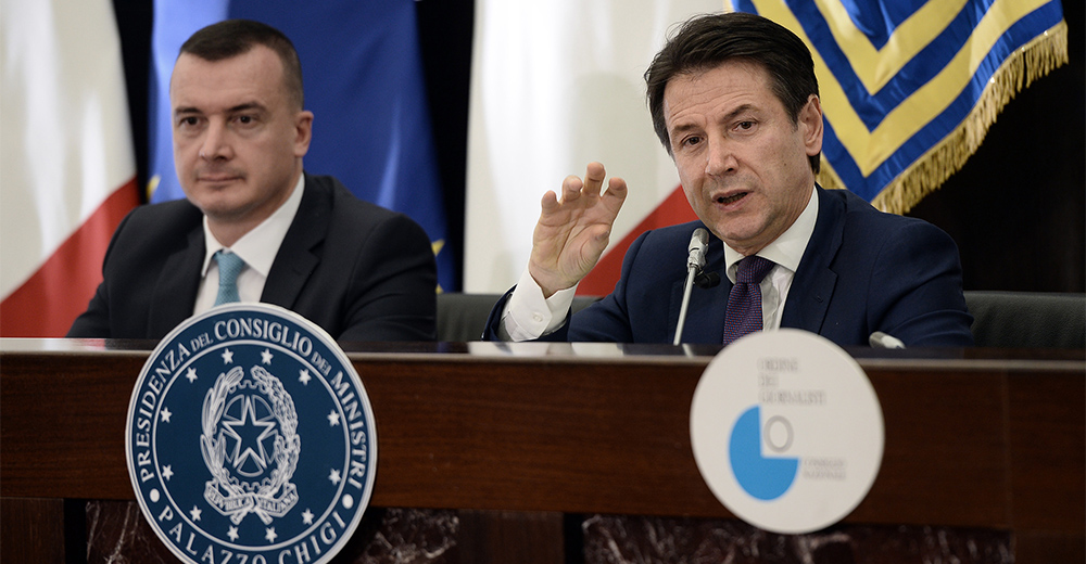 Conferenza stampa di fine anno del Presidente del Consiglio Giuseppe Conte