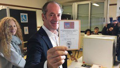 Luca Zaia presidente regione Veneto per l'autonomia