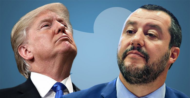 Trump e Salvini Twitter