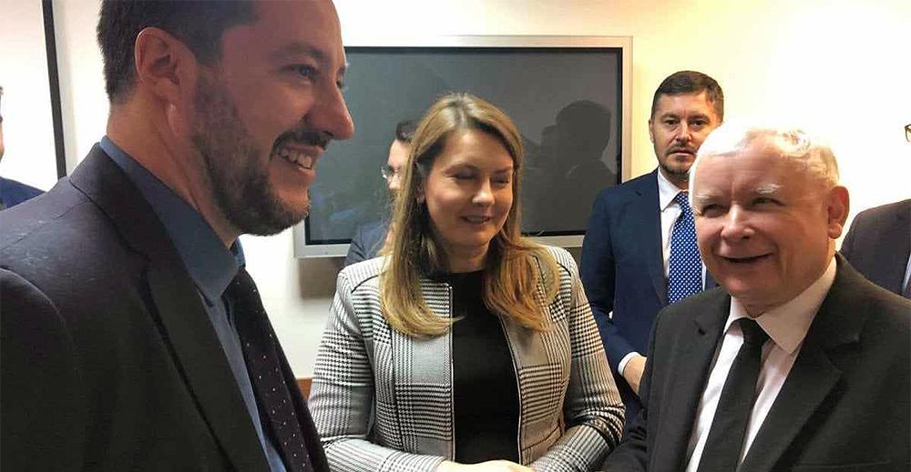 Matteo Salvini e Jarosław Kaczyński