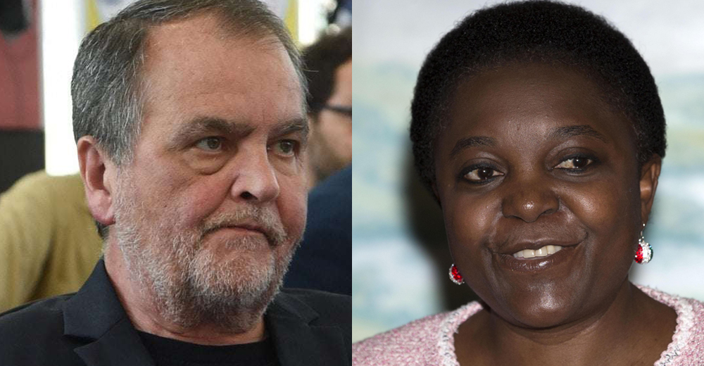 Roberto Calderoli e Cécile Kyenge