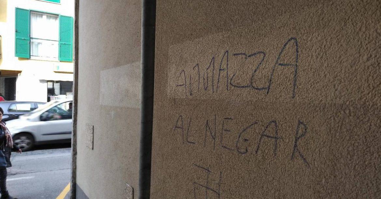 Scritte razziste a Melegnano