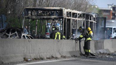 Bus incendiato San Donato Milanese