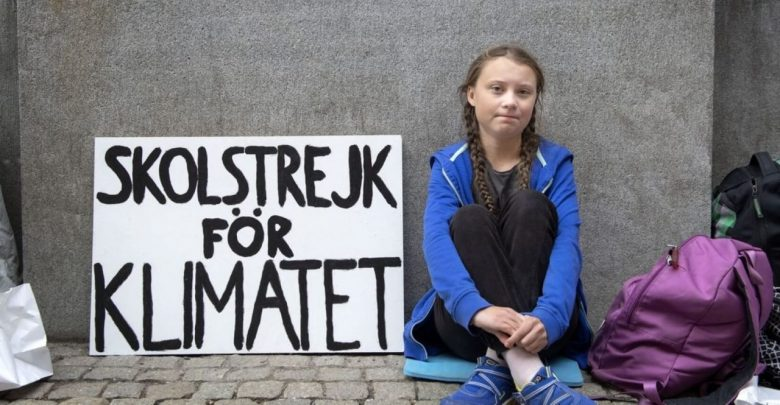 Photo of Greta Thunberg a Roma contro i cambiamenti climatici
