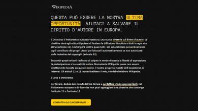 Photo of Copyright, Wikipedia Italia oscurata per protesta