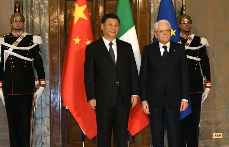 Xi Jinping Sergio Mattarella